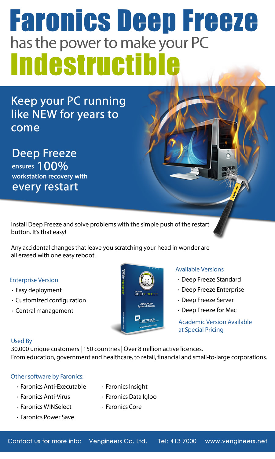 Faronics Deep Freeze Has The Power to Make Your PC Indestructible