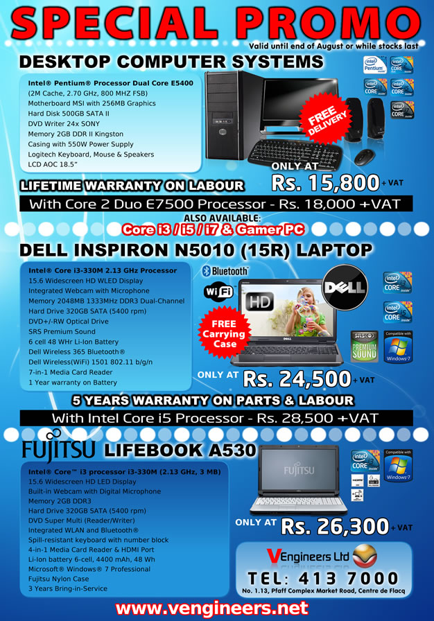 Toshiba dell laptops with core i3 processor valid until end of